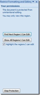 restrict editing in word document
