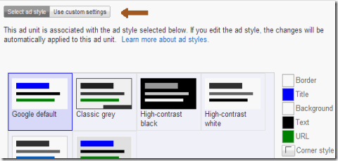 change the color of Google Adsense ads