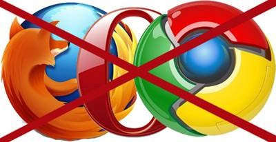 Can Not Use Internet In Any Browser Except IE