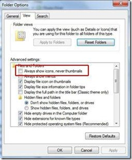 speed up file browsing in windows