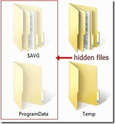 hide hidden files folders in windows 7