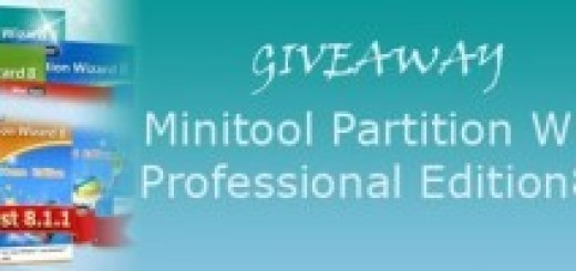 Giveaway Minitool Partition Wizard Professional Edition 8.1.1