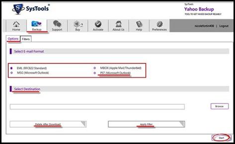 Yahoo Backup Software