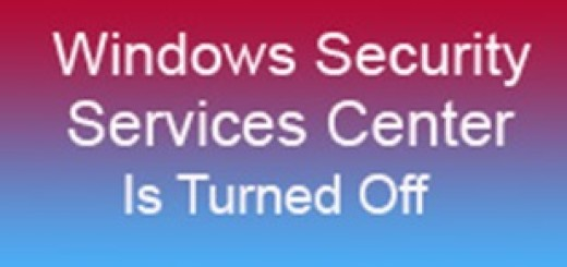 windows security service center is turned off