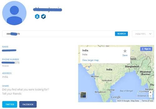 Mobile number tracker india with name and address location map