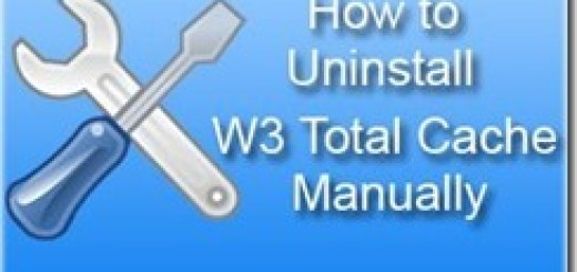 how to uninstall w3 total cache