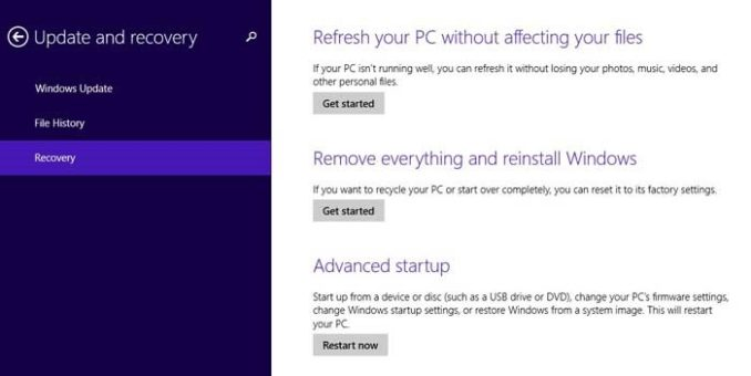 Windows 8 1 Tip:How To Refresh or Reset Windows 8 1 PC