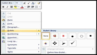 custom bullets in microsoft word